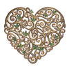 Painted Filigree Heart