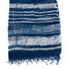 Indigo Block Print Cotton & Silk Scarf