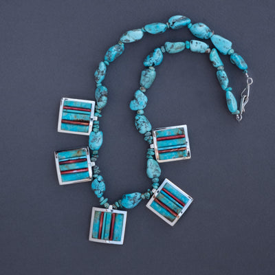 Veronica Benally Five Station Turquoise Necklace