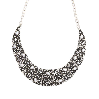 """Million Drops"" Sterling Silver Collar Necklace with Freshwater Pearls"