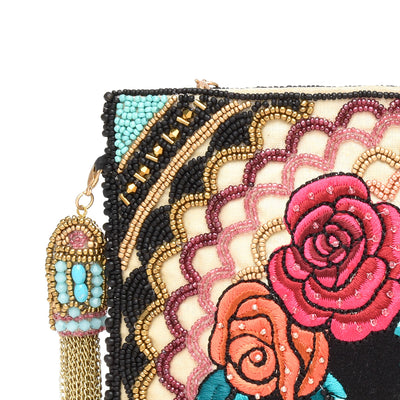 Frida Kahlo Beaded Handbag
