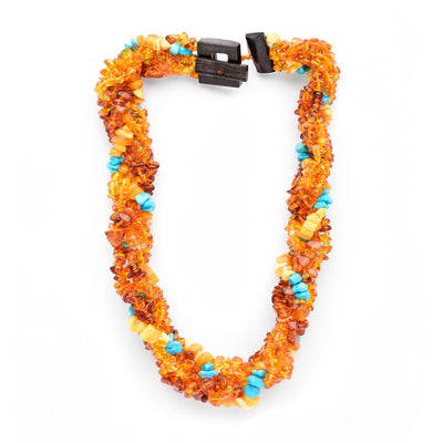 Baltic Amber and Turquoise Necklace
