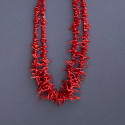 Two Strand Branch Coral Necklace
