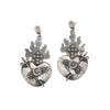Sterling Silver Sacred Heart Earrings