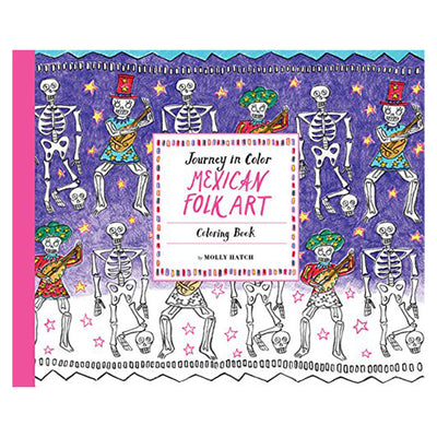 Journey in Color: Mexican Folk Art Coloring Book
