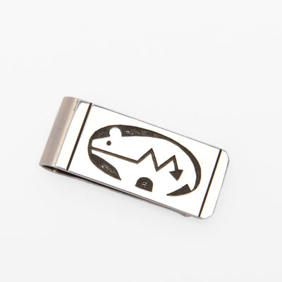 Vernon and Renee Begay Spirit Bear Sterling Silver Money Clip