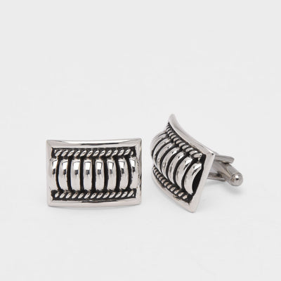 Thomas Charley Water Bead Sterling Silver Cufflinks