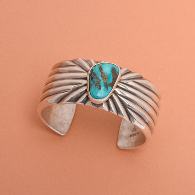 Cippy CrazyHorse Turquoise and Silver Cuff