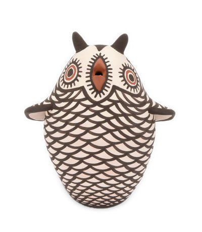 Carlos Laate Zuni Owl Messenger Bird Pot