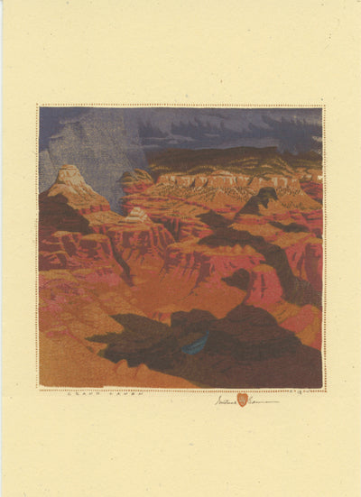 "Gustave Baumann ""Grand Canyon"" Card Set"