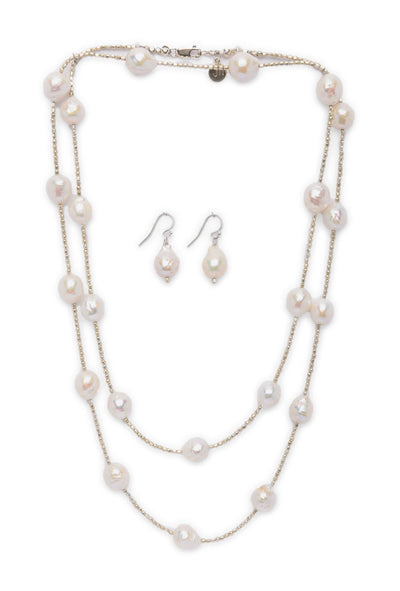 Jhane Myers Pearl Necklace and Earrings