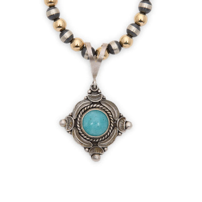 Lawrence Baca Amazonite Pendant