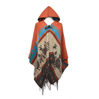 Ancestral Spirits Hooded Fashion Wrap