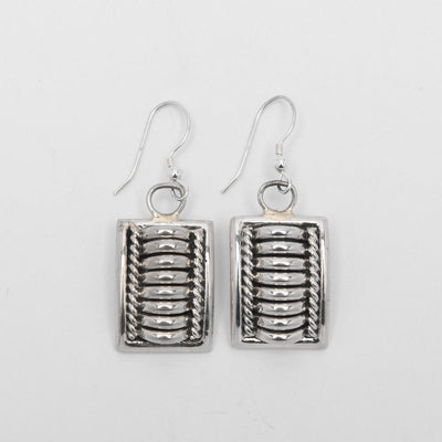 Thomas Charley Rectangle Dangle Sterling Silver Earrings