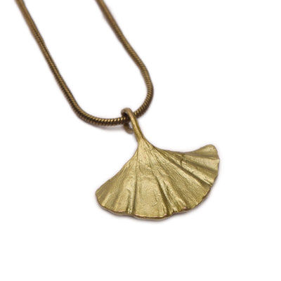 Gingko Single Leaf Necklace
