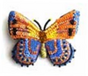 Asterope Orange Butterfly Pin
