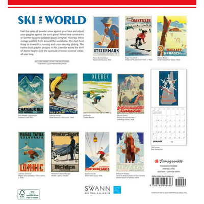 Ski the World 2021 Wall Calendar