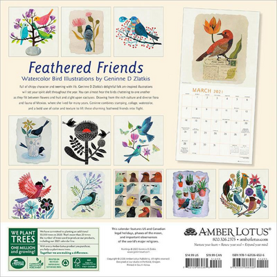 Feathered Friends 2021 Wall Calendar