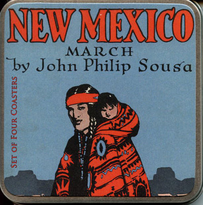 New Mexico March 4 Coaster Set