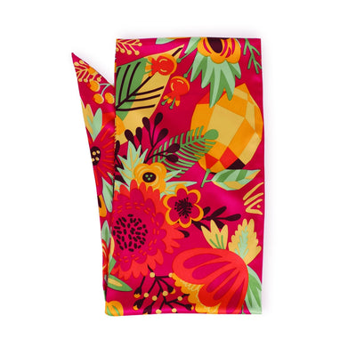 Tropical Fruit Satin Neck Scarf