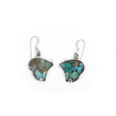 Jimmy Poyer Turquoise Bear Earrings
