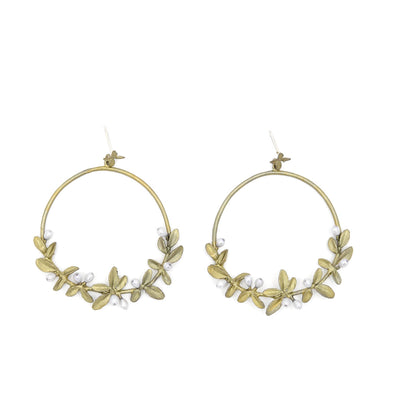 Flowering Thyme Hoop Post Earrings