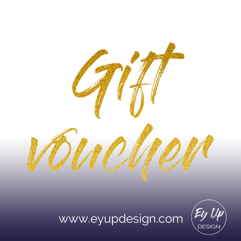 Gift voucher available in 10 pound denominations