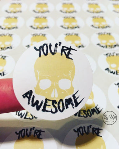 You're awesome thank you stickers.