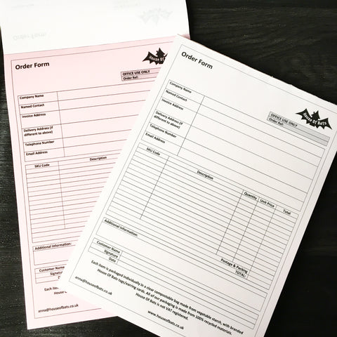 Duplicate invoice tear off pad