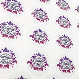 Indigo Star purple transparent custom cut sticker