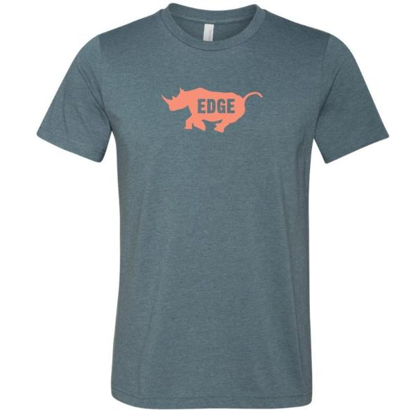 EDGE logo Unisex T Orange & Indigo