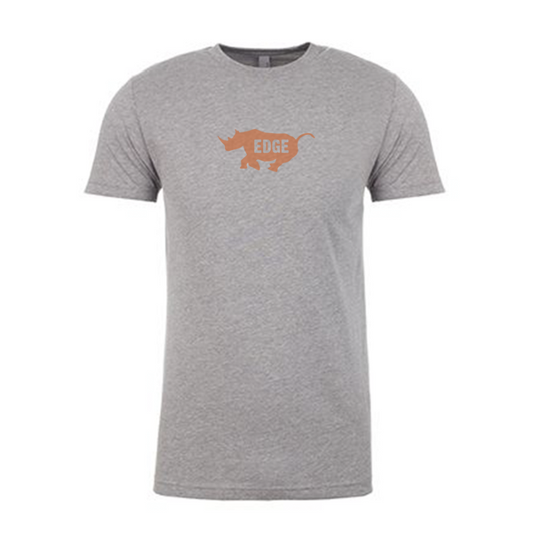 EDGE Logo Heather Gray Tee