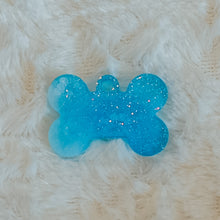 Load image into Gallery viewer, Blue and White Tie Dye Glitter Small Dog Tag