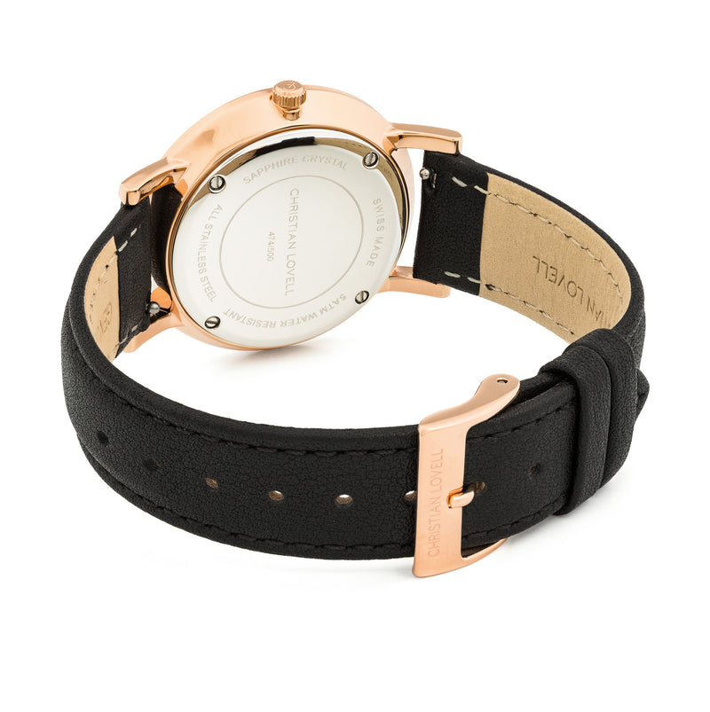 Premiere Black Leather w/ Rose Gold
