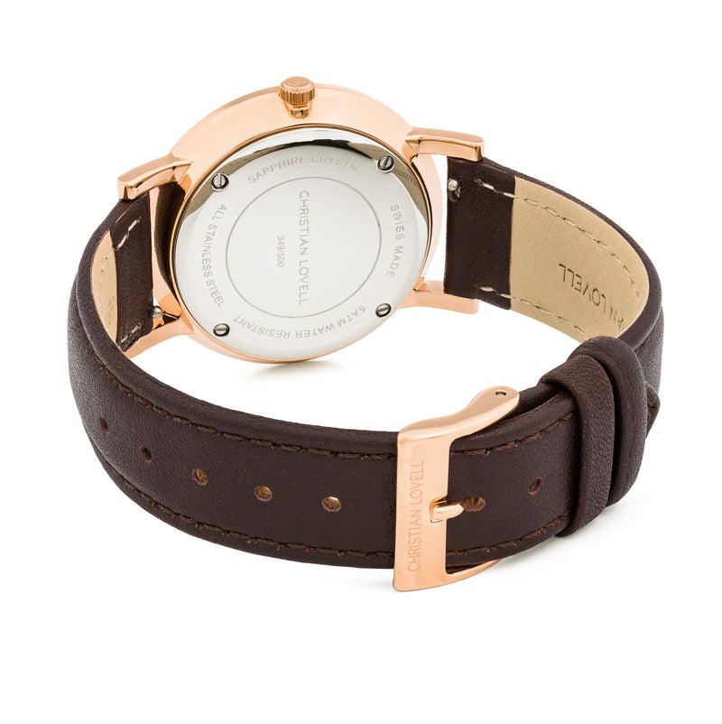 Premiere Dark Brown Leather w/ Rose Gold