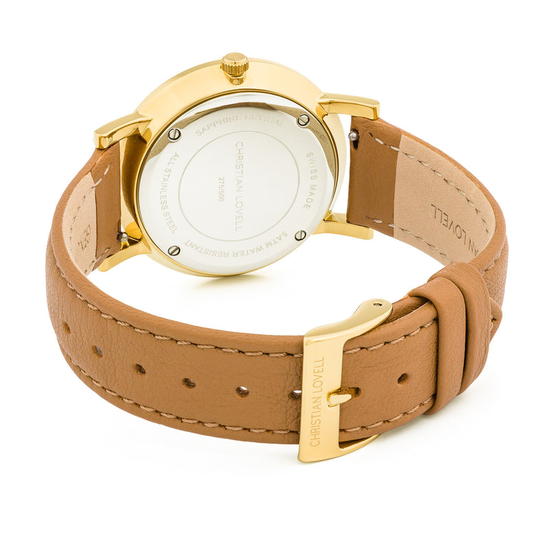 Premiere Light Brown Leather Gold w/ Black Dial