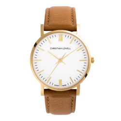 Premiere Light Brown Leather w/ Gold