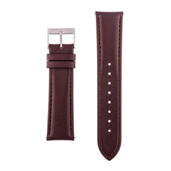 Quick Release Dark Brown Leather w/ silver, gold or rose gold accents