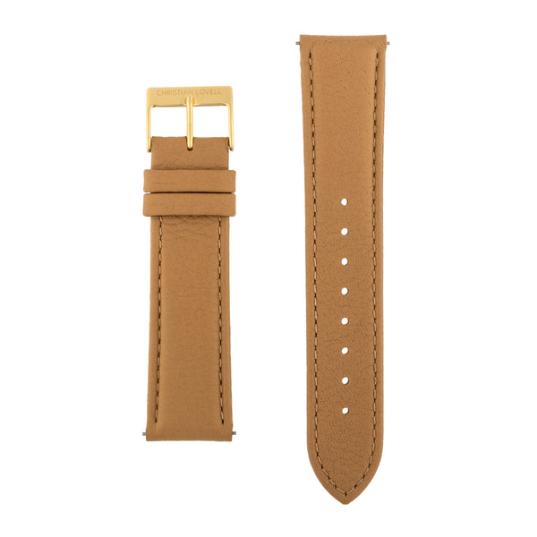 Quick Release Light Brown Leather w/ silver, gold or rose gold accents