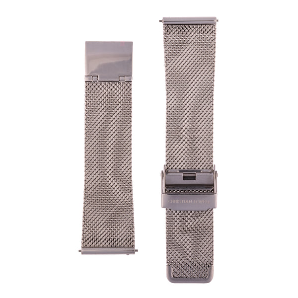 Quick Release Milanese silver mesh bracelet