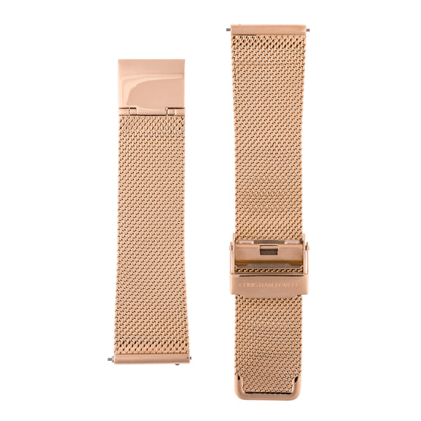 Quick Release Milanese rose gold mesh bracelet