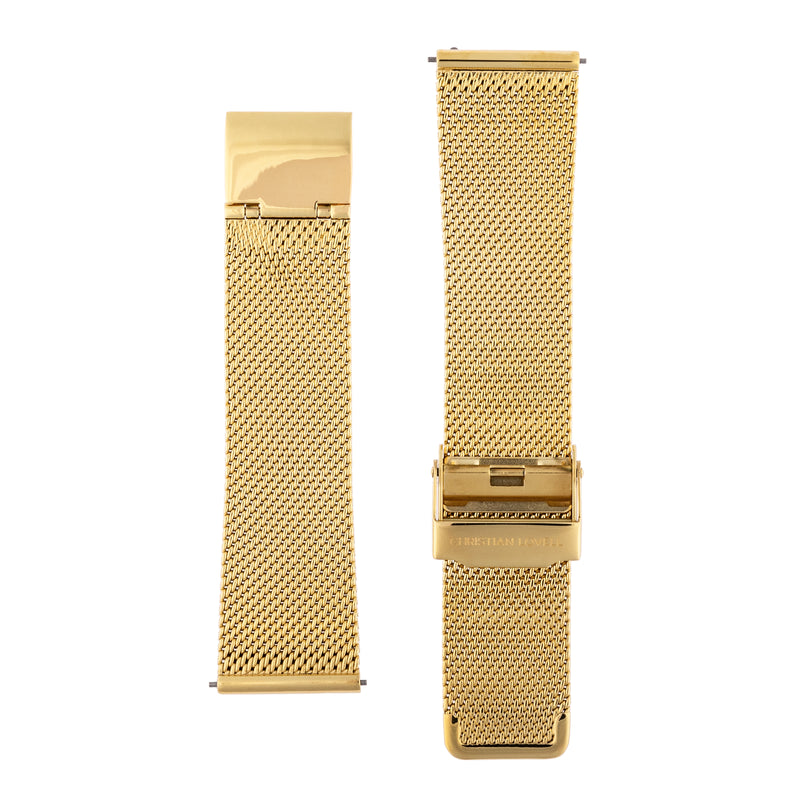 Quick Release Milanese gold mesh bracelet