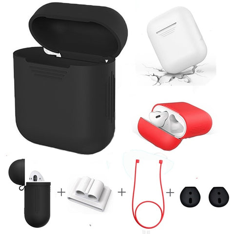 4 in 1 Shockproof Earphone Case For AirPods and Earpods