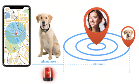 Smart Pet GPS Tracker Waterproof Dog Collar