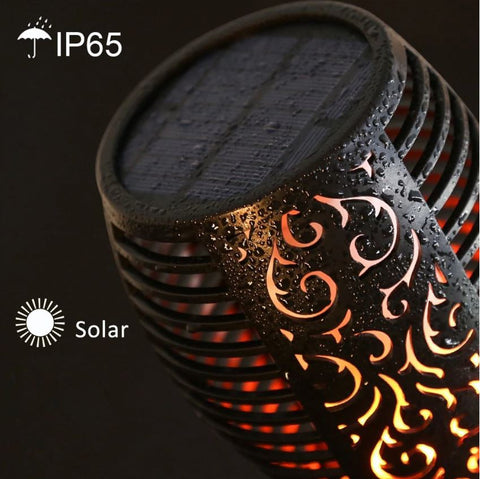 flickering led solar flame light