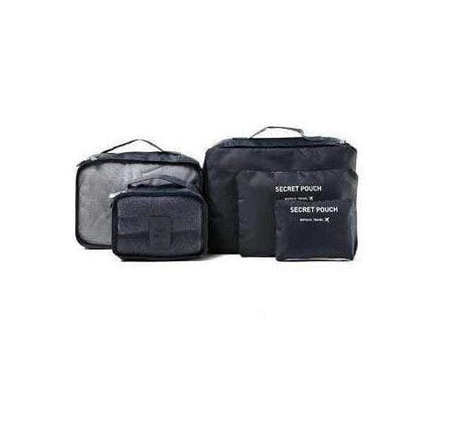 6-Piece Packing Cubes and Luggage Organizer Navy Blue Trendy Joys
