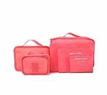 6-Piece Packing Cubes and Luggage Organizer Watermelon Red Trendy Joys