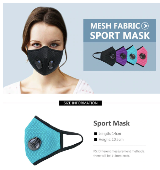 Performance Activated Carbon Single & Dual Valve Sports Masks