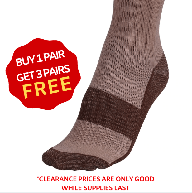ANTI-FATIGUE COMPRESSION SOCKS UNISEX | BUY 1 PAIR GET 3 PAIRS FREE Black / S/M (42-44) Eloxtras