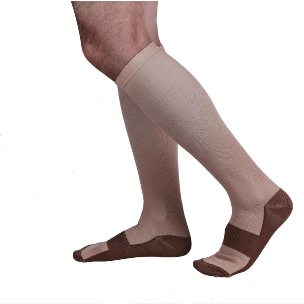 ANTI-FATIGUE COMPRESSION SOCKS UNISEX | BUY 1 PAIR GET 3 PAIRS FREE Skin/Nude / S/M (42-44) Eloxtras